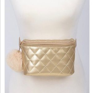 Handbags - Fur 4 Love Fanny Pack - Gold